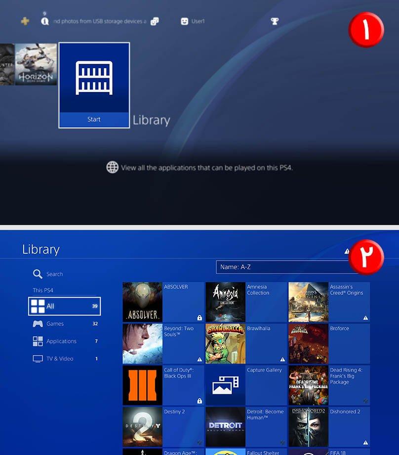نمایش لیست کامل بازی ها در PS4