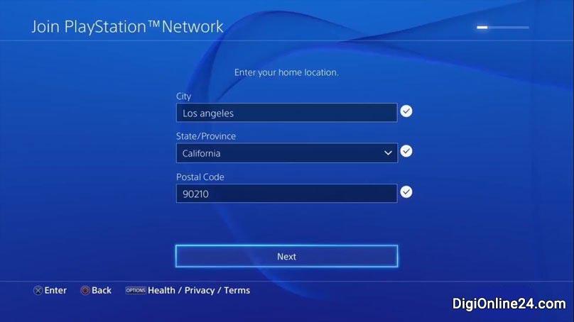 طریقه ساخت اکانت برای PS4