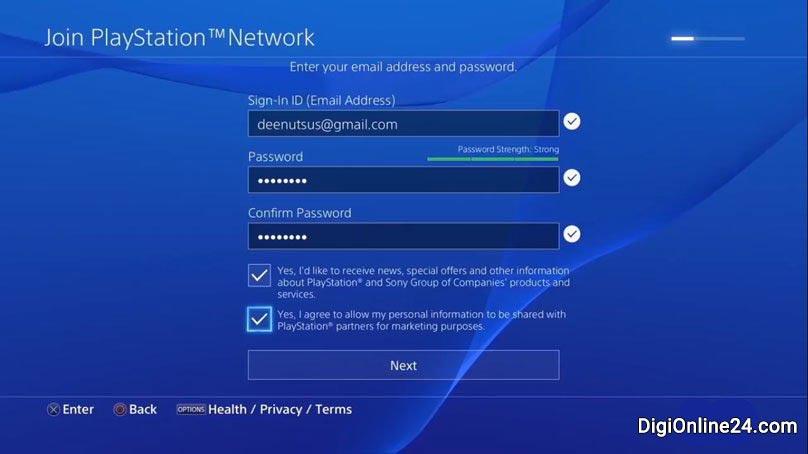 آموزش ساخت اکانت برای PS4