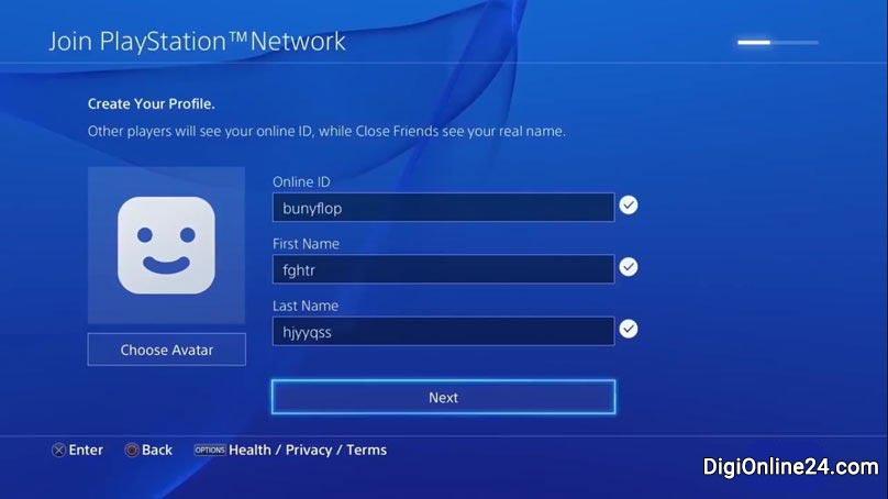 ساخت حساب کاربری PSN - دیجی آنلاین 24